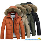 2017 Men's Warm Fur Collar Hooded Parka Winter Down Jacket Coat Thick Outwear