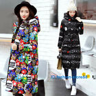 Woman's winter printing cotton jacket female slim warm parka coat overdress HOT!