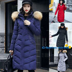 Womens Ladies Winter Long Warm Thick Parka Faux Fur Jacket Hooded Coats