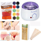 Wax Warmer Heater Machine+300g Waxing Hard Beans+100pcs Hair Removal Sticks Set