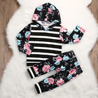 US Stock Toddler Infant Kids Baby Girl Floral Clothes Pants Clothes Outfits 2PCS