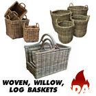 GLENWEAVE HEAVY DUTY WOVEN, WILLOW LOG BASKETS - VARIOUS STYLES & SIZES