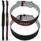 """AQWA Weight Lifting Leather Belts 4"""" Back Support Gym Training Fitness Exercise"""