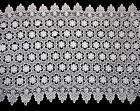 """Lily 18.5"""" White Floral Guipure Venice Lace Trim Double Scalloped By Yard"""