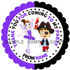 Personalised Fairy & Pirate stickers for Sweet Cones etc * 3 Sizes * Ref MX09-19