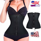 Latex Rubber Hot Zipper Waist Trainer Underbust Corset Slimmer Cincher Belt L012