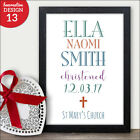 Personalised Christening Print Picture - Christening Gift Nursery Present