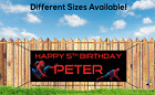 SPIDERMAN, OUTDOOR PVC BANNER, BIRTHDAY BANNER, ADD YOUR NAME, SUPERMAN, HERO