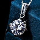 FASHIONS FOREVER® 925 Sterling Silver Round-In-Rhombus Zirconia Necklace-Pendant