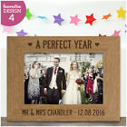 PERSONALISED Keepsake 1st 5th Anniversary Wooden Engraved Photo Frame Wedding
