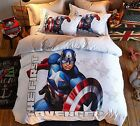*** The First Avenger Queen Bed Quilt Cover Set - Flat or Fitted Sheet ***