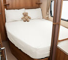 Auto-Trail Miami 740 D Motorhome Fitted Sheet - Ivory, White, Walnut Whip