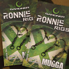 New Gardner Tackle Ready Tied Ronnie Rigs (Pack of 3) - Carp Pop Up Fishing