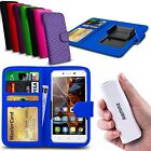 For ZTE Nubia Z7 Max - Clip On PU Leather Wallet Case & Powerbank