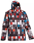 NEW Men's QUIKSILVER 10K Snow Jacket Ski Checkered Black Red Size XS S M L XL
