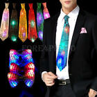 1 x Hot Flashing Light Up LED Bow Tie Necktie Party Sequins Wedding Christmas
