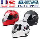 Bluetooth Motorcycle Helmets Integrated Dual Speakers Visors Black/White/Red US