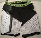 "DAINESE ""EVO"" ACTION SHORTS HIP/COCCYX PROTECTION COLOR:BL/WH SIZE:,XXL NEW"