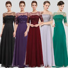 Womens Short Sleeve Bridesmaid Dresses Formal Evening Gown 08459 Ever-Pretty