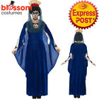 CA429 Ladies Day Of The Dead Blue Sacred Mary Halloween Fancy Dress Up Costume