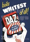 RETRO METAL PLAQUE: Boils WHITEST of all DAZ sign/ad