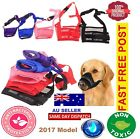Dog Pet Puppy Muzzle Anti Stop Bite Bark Chewing Mask All Training Small LargeAU