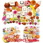 10/20/30 Pcs Jumbo Medium Mini Squishy Bread/Cake/Buns Phone Straps Slow Rising