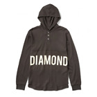 Diamond Supply Co Winston Hooded Thermal Brown