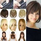 2 Clips Clip-in on Fringe Bang Hair Extensions Front Hair Style Auburn Brown TB2
