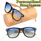 Personalized Engraving Bamboo Wooden 2 Tone Lens UV400 Sunglasses Groomsmen Gift