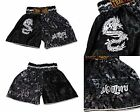 Kids Boxing Shorts Muay Thai Fighting satin trunks MMA childrens dragon B Silver