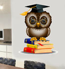Wise Owl Wall Art Vinyl Stickers Reading Education Decals Murals Transfers