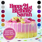 Happy Birthday Cake Topper Personalised ANY Name Acrylic Cake Decoration ANY AGE