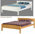 Amber Bed 4ft 6 Double Bed Frame In White Or Antique Pine