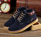Men's fashion wave shoes leather plus cashmere warm high to help cotton boots