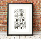 ❤ DONNY HATHAWAY ❤ LOVE song lyric poster art Limited Edition Print #27