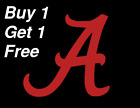 ~*~ 2 ALABAMA A's Vinyl Decal Sticker Football UA YETI CUSTOM Roll Tide Crimson
