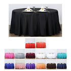 "132"" Round Polyester Tablecloth For Wedding Party Banquet Events Decoration"