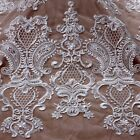 1 yard New off white polyster on net embroidered wedding dress lace fabric 1yard