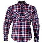 OXFORD KICKBACK KEVLAR MOTORCYCLE SHIRT RED & BLUE FREE UK DELIVERY