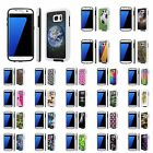 For Samsung Galaxy [S7] Shock Absorbent Dual Armor Case [Screen Guard]Design [H]