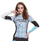 Womens Rash Guard Long Sleeve T-Shirt TRIPAT Printed Wetsuit Wakeboard Floatsuit