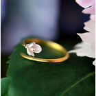 Adjustable Ring 925 Silver Rings Flower Finger Rings For Women Girls Jewelry