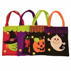 Treat or Trick Halloween Witch Patterned Toys Candy Bag Tote Props