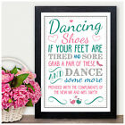 Dancing Shoes PERSONALISED WEDDING SIGN Dancing Feet Flip Flops Sign Basket