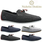 MENS NICHOLAS DEAKINS SLIP ON TRAINERS CANVAS SKATES PUMPS SHOES PLIMSOLLS SIZE