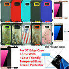 For Samsung Galaxy S7 Edge Defender Case Come w/+Tempered Glass Screen Protector