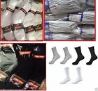 5-100 Dozens Wholesale Lots Mens Solid Sports Cotton Crew Socks P274 Gifts Cheap