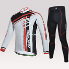 Men Sports Cycling Bicycle Riding Long Sleeve Sport Suit Set Jersey Pants