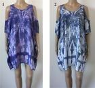 LADIES casual Tie Dye Top Dress Open Sleeve OSFA Plus Larger Size  22 24 26  B5